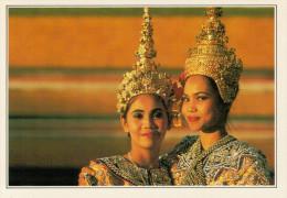 BANGKOK:  DANZATRICI     (NUOVA CON DESCRIZIONE DEL SITO SUL RETRO) - Tailandia