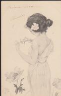 CPA:Kirchner : Femme Avec Tiges Et Oiseaux - Kirchner, Raphael