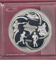 KAZACHSTAN 100 TENGE 2007 AG PROOF OLYMPICS BEIJING PENTATHLON - Kazakhstan