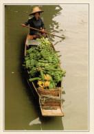 DAMNER  SADUAK:  IL  MERCATO  GALLEGGIANTE   (NUOVA CON DESCRIZIONE DEL SITO SUL RETRO) - Tailandia