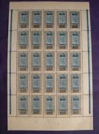 """SOUDAN - 1921 - N° 22  Panneau De 25 - Neuf ** - Variété """"cédille Absente"""" Sur 3 Timbres - Sudan (1894-1902)"""