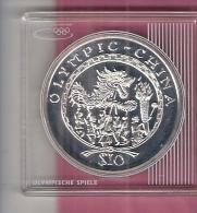 SIERRA LEONE $ 10,= 2008 AG PROOF OLYMPICS BEIJING CHINESE DRACHEN - Sierra Leone