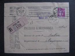 Paix 20 - TB Enveloppe  Affranchie Avec N° 289   ;  De Paris  Pour Ballée ( 04/ 08 /1934 ) - Postmark Collection (Covers)