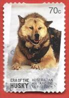 TERRITORIO ANTARTICO AUSTRALIANO - AAT - USATO - 2014 - Brown Husky - 70 C - Michel AQ 227 AUTOADESIVO - Territorio Antartico Australiano (AAT)