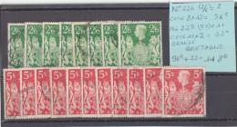 LOT Timbre N° 225 X 11 + 224 X 8 (oblitéré) De GRANDE BRETAGNE / UK / GREAT BRITAIN - Collections