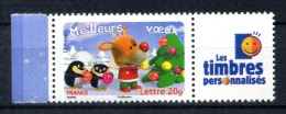 N° 3988A  MEILLEURS VOEUX 2006 MANCHOTS . LES TIMBRES PERSONALISES  NEUF ** - France