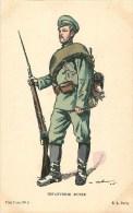 ARMEE RUSSIE - INFANTERIE RUSSE- UNIFORME -ILLUSTRATEUR; M. MAHUT- CPA  -  Bel état. - War 1914-18