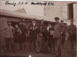 Photo Février 1915 CLAMECY - Soldats Allemands, Une Fanfare Du IR 52 (A118, Ww1, Wk 1) - Unclassified