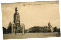 Tienen, Tirlemont, La Grand' Place, Eglise Notre Dame Au Lac Et Gôtel De Ville (pk21968) - Tienen