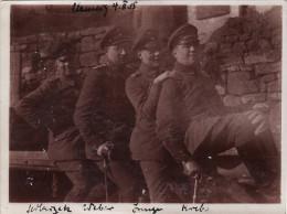 Photo Février 1915 CLAMECY - Officiers Allemands Du IR 52 (A118, Ww1, Wk 1) - War 1914-18