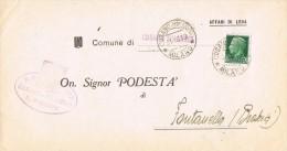 14719. Carta CUSANO MILANINO (Milano) 1939. Affari Di LEVA - Storia Postale