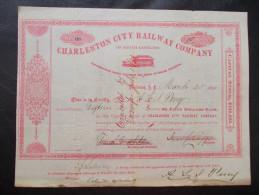 USA - Charleston City Railway Company - Chemin De Fer & Tramway