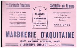 BUVARD MARBRERIE D'AQUITAINE (villeneuve sur Lot) (B.039)