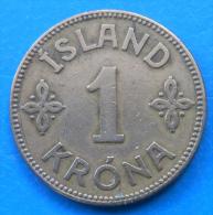 Islande Iceland 1 Krona 1940 Km 3.1 - Iceland
