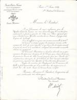 """Paris 1889 - YACHT-CLUB DE FRANCE  - Circulaire Du Président """"en Vue D'encourager La Construction Nationale... - Historical Documents"""