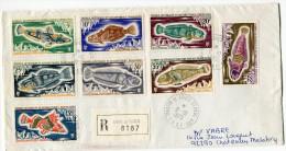 T. A. A. F. LETTRE RECOMMANDEE DEPART MARTIN-DE-VIVIES -ST PAUL -AMS- 8-10-1975 POUR LA FRANCE - Storia Postale
