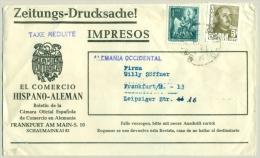 Spain -  1 Pta Airmailstamp On Taxe Reduite Newspaperwrapper To  Germany - 1931-Tegenwoordig: 2de Rep. - ...Juan Carlos I