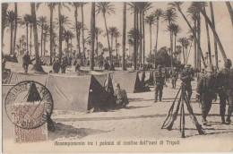 CPA LIBYE LIBYA LIBIA TRIPOLI Accampamento Tra I Palmizi Confine Dell´oasi Di Tripoli Timbre Stamp 1912 - Libya