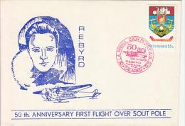 27686- R.E. BYRD, FIRST FLIGHT OVER SOUTH POLE, 1979, ROMANIA - Polar Flights