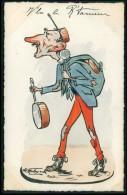 Art MOLYNK Louis André Ministre De La Guerre Masonic Maçonnerie Caricature Satirique Politique France Carte Postale - Satirical