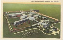 Illinois State Penitentiary Prison, Stateville IL, 1939 Vintage Curteich Linen Postcard - Prison
