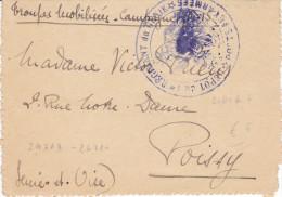 CARD BUSTE FRANCHIGIA MILITARE FRANCESI TRESOR ET POSTES 1915-17... CON TESTO LOTTO DI 6   -2-882-24309-24317 - Weltkrieg 1914-18