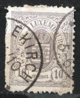 LUXEMBOURG - 1880 - Obl. - Y&T 42 - - 1859-1880 Coat Of Arms