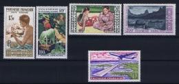 Polynésie:  Yv Nr AE 1 - 5  MH/* Avec  Charnière - Poste Aérienne