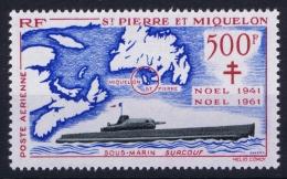 SAINT-PIERRE-ET-MIQUELON Yn Nr AE 28  MH/* Avec  Charnière - Luftpost