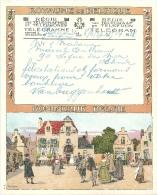 Belgique Télégramme Illustré Illustration Signée 1937 - Télégraphes