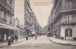 PARIS XVII° Rue SAUSSIER LEROY à L´ Avenue NIEL  Animation CAFE Restaurant BIERE Des MOULINEAUX - District 17