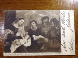 Musee Du Louvre Le Titien La Vierge Et L´Enfant-Jesus Adorés Par Les Saints - Musées