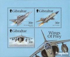 Gibraltar Block38 (kompl.Ausg.) Postfrisch 1999 Kampfflugzeuge - Gibraltar