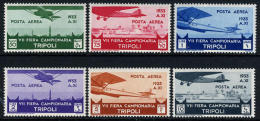Libya C8-13 Mint Lightly Hinged Airmail Set From 1933 - Libya