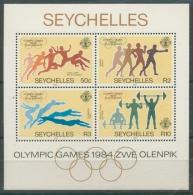 Seychellen 1984 Olympiade Los Angeles Block 24 Postfrisch (R20532) - Seychelles (1976-...)