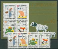 Somalia 1979 Jahr Des Kindes 278/81 Block 8 Postfrisch (G20545) - Somalia (1960-...)