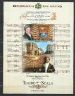 San Marino 2004 Reopening Of La Scala Theatre.MNH - San Marino