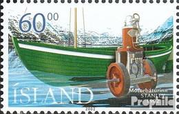 Island Mi.-Nr.: 1002 (kompl.Ausg.) Postfrisch 2002 Motorboote - 1944-... Republik