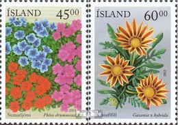 Island 1028-1029 (kompl.Ausg.) Postfrisch 2003 Sommerblumen - 1944-... Republik