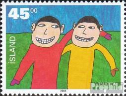 Island 1041 (kompl.Ausg.) Postfrisch 2003 Malwettbewerb - 1944-... Republik
