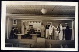 OFLAG XB AVEC TAMPON AU DOS:PHOTOCARTE 39-45:REPRESENTATION THEATRALE PRISONNIERS - Oorlog 1939-45