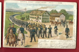FXF-12 Litho Schweiz Armee Suisse. Infanterie. Pioneer. Gelaufen In 1905 - Non Classés
