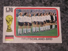 Allemagne DEUTSCHLAND TEAM  World Cup Story 1974 Germany 74 PANINI Original Sticker N° 67 Vignette Autocollante - Panini