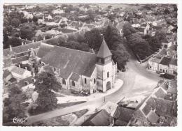 Dun Sur Auron - L'église - Vue Aérienne - Pas Circulé, Cpsm 10.5 X 14.9 - Dun-sur-Auron