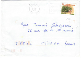 CANADA - 1995?? - Elberta Peach - Viaggiata Per Thann, France - Lettres & Documents