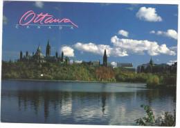 CANADA - 1994 - 88 Westcot Apricot - Ottawa River And Parliament Building - Viaggiata Da Ottawa Per Lille, France - Ottawa