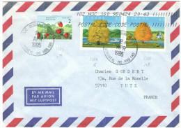 CANADA - 1995 - Airmail - Wild Strawberry + Big Leaf Maple + Sugar Maple - Viaggiata Da Montreal Per Yutz, France - Covers & Documents