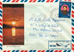 1983  Lettre Avion Pour La France  Souverain Tamatoa  PA 118 - Briefe U. Dokumente