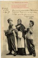 BERGERET Chanteurs Des Cours Carte Précurseur - Bergeret