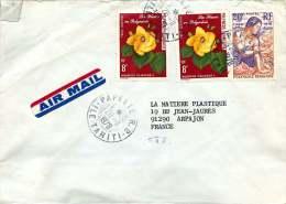 1978 Lettre Avion Pour La France   Hibiscus PA 126, 20è Ann Des Premiers Timbres 121 - Polynésie Française